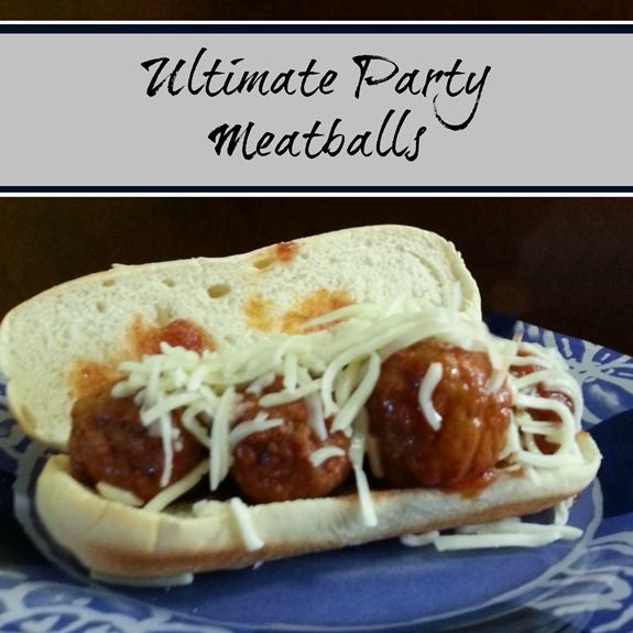 Ultimate Party Meatballs---I would make my own meatballs, but ...