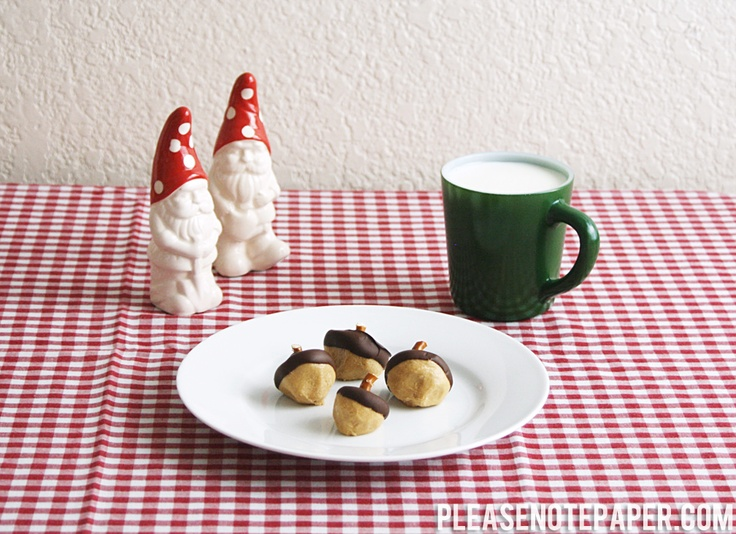 Chocolate Peanut Butter Acorns from pleasenotepaper.com #recipe # ...
