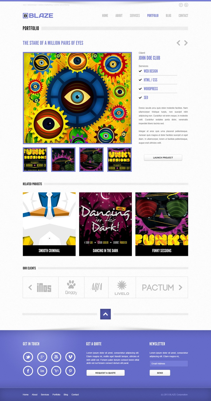 Blaze corporate psd template design webdesign template web graphic psd photoshop for Pinterest template psd