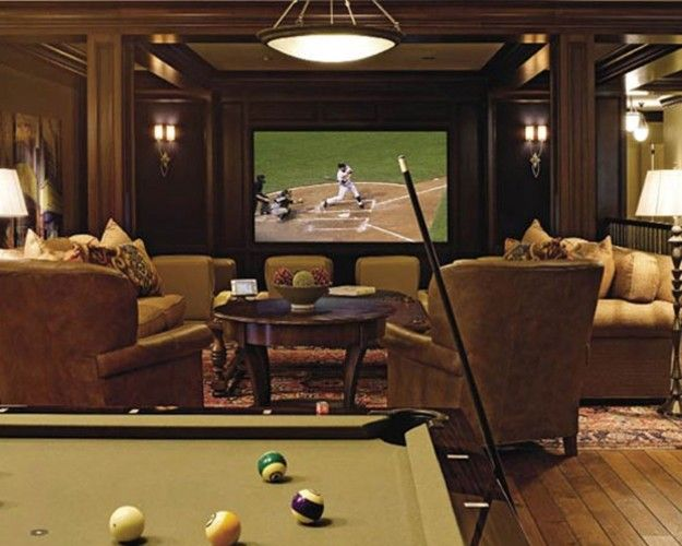 14-Cool-Home-Theater-Decor  Attics. Basements. Bonus Rooms.  Pinter ...