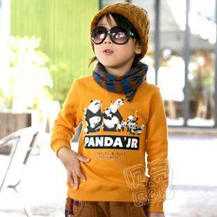 Children panda hoodies sweatshirts hoodie for boys and girls kids