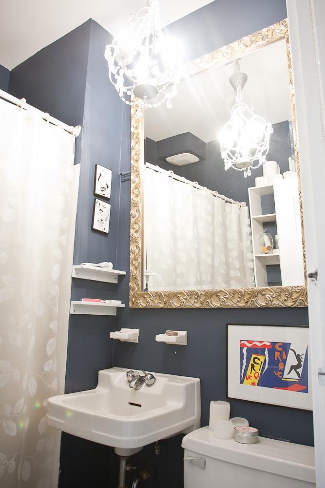 Model Home  Bathroom  36quot Halifax Bamboo Vessel Sink Vanity