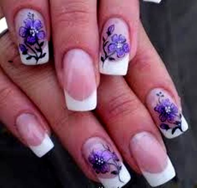 manicure with decorations | myFav NAILS | Pinterest