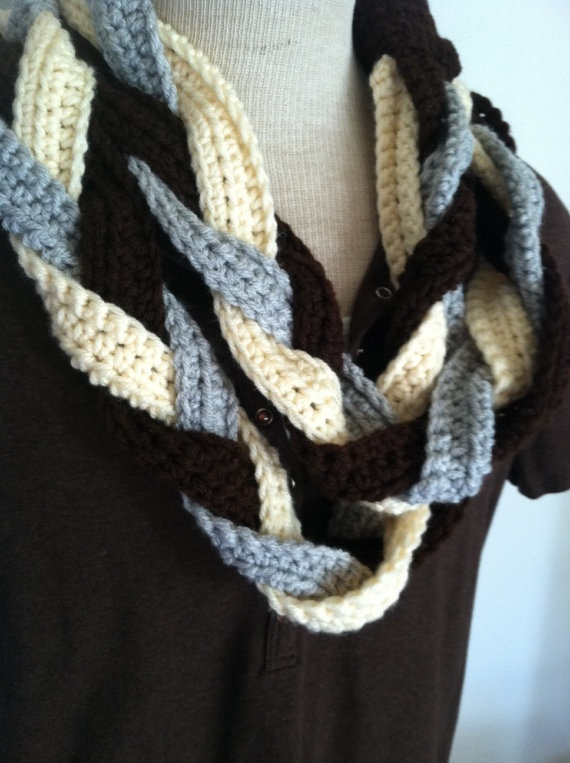 Knitting Pattern Braided Scarf : braided scarf Crochet. Pinterest