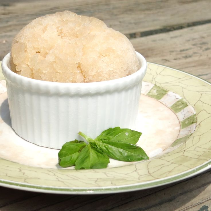 Granita Recipe with Pear and Basil Made Easy. Find this recipe at http ...