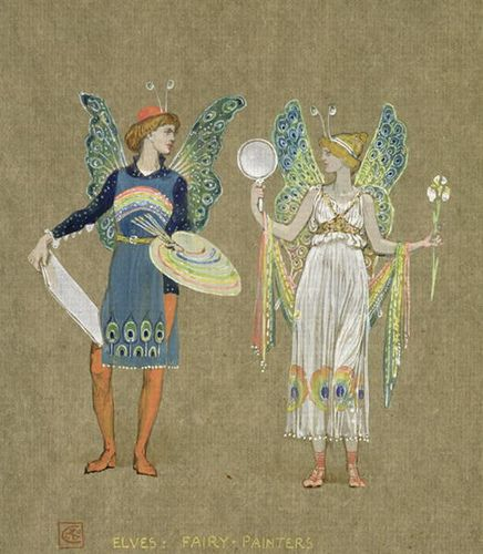 Fairy Painters by Walter Crane