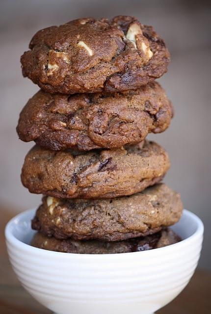 Double Chocolate Chunk Cookies | Dessert ideas | Pinterest