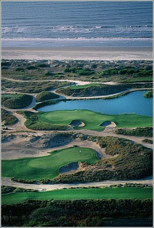 Ocean Course  Located on the eastern-most end of Kiawah Island, The Ocean Course has more seaside holes than any other course in the Northern Hemisphere – 10 right along the Atlantic with the other 8 running parallel to those