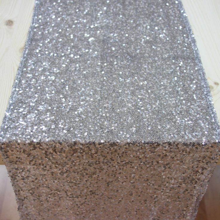 Sequin Table Runner - Silver [Silver Sequin Table Runner For our ...