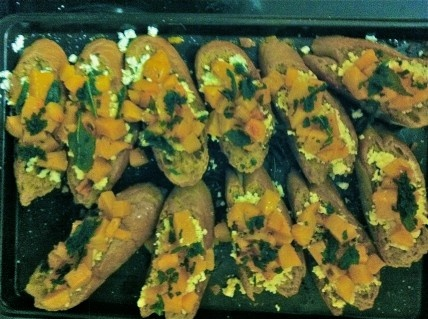 ... Holiday Appetizer Roasted Butternut Squash, Ricotta, and Sage Crostini