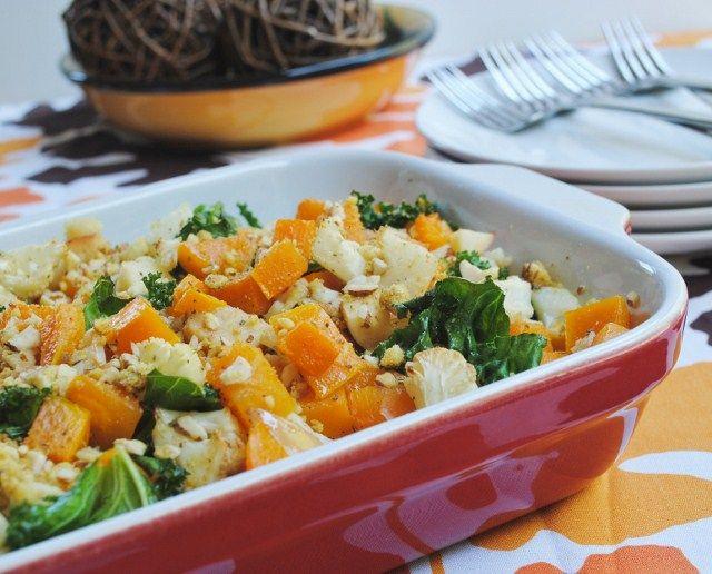 Roasted Butternut Squash, Cauliflower, Kale & Apples