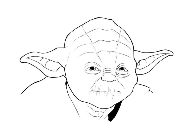 yoda head coloring pages - photo#12