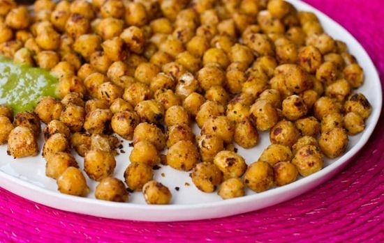"... Battered"" Fried Chickpeas & Chickpea Basil Pesto — Oh She Glows"