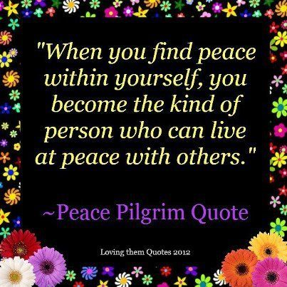 how to make peace with yourself