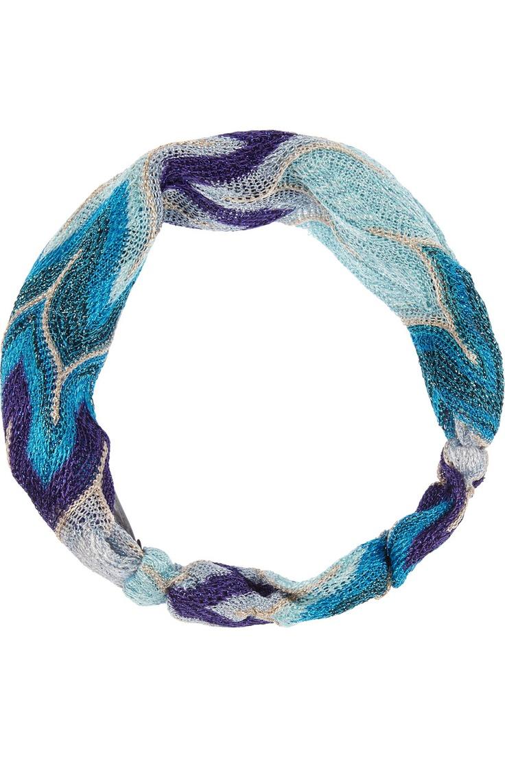 MISSONI Metallic crochet-knit headband £54.17