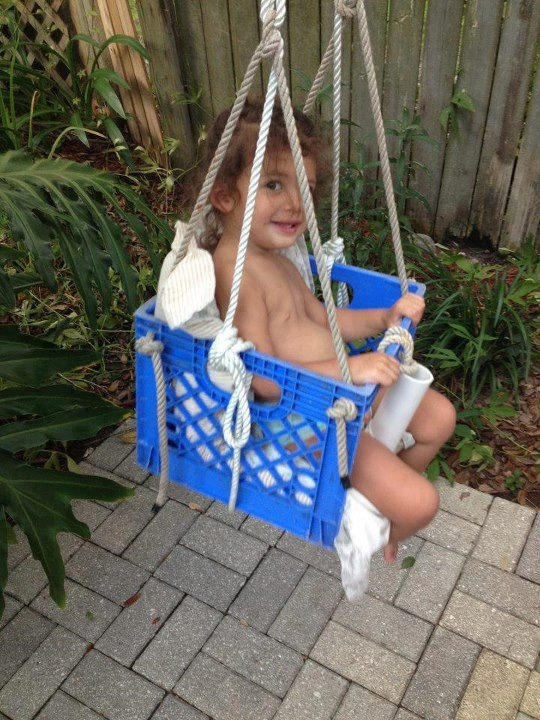 A diy swing for the kids pinterest for Banca columpio para jardin
