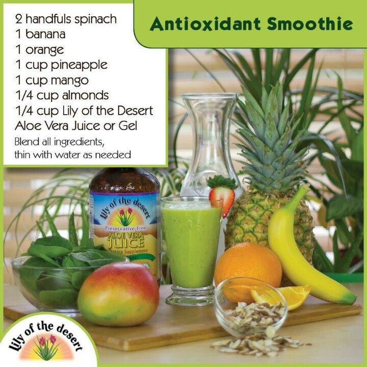 Antioxidant Smoothie | Herbal Remedies and Info. | Pinterest