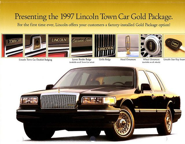 1997 lincoln town car gold package lincoln continental 1979 2002 pinterest. Black Bedroom Furniture Sets. Home Design Ideas