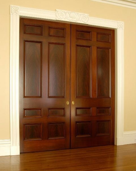 Wood doors with white trim the bunkhouse pinterest for Wood doors with white trim pictures