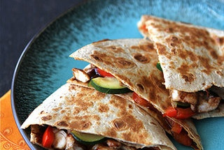 asian quesadilla with chicken zucchini amp hoisin sauce