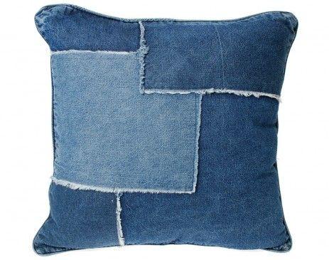 denim cushion blue crafty cushions pinterest