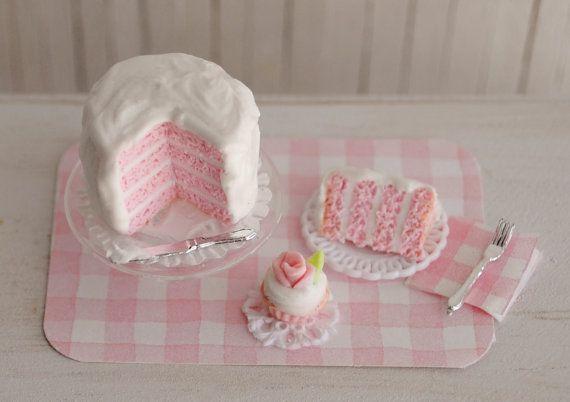 Miniature Pink Layer Cake
