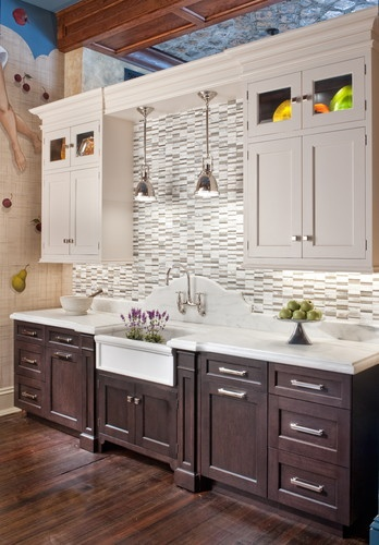 Hanging lights over sink kitchens pinterest for Kitchen ideas no window