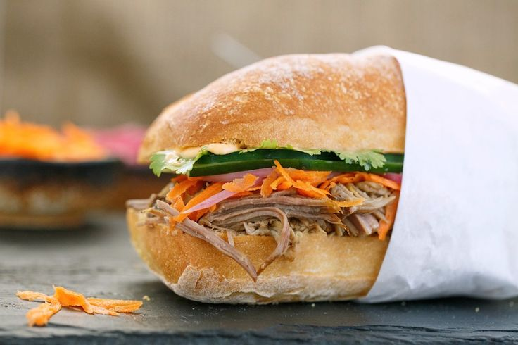 ... sandwich shop, Num Pang. Pulled Pork, pickled carrots and onions