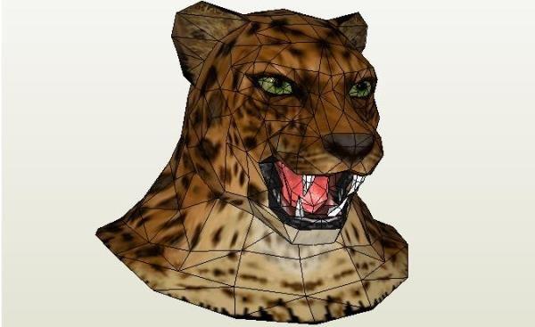 Tekken 6 - King Mask Paper Model - by Dhal Pepaguru - via Pepakura ...