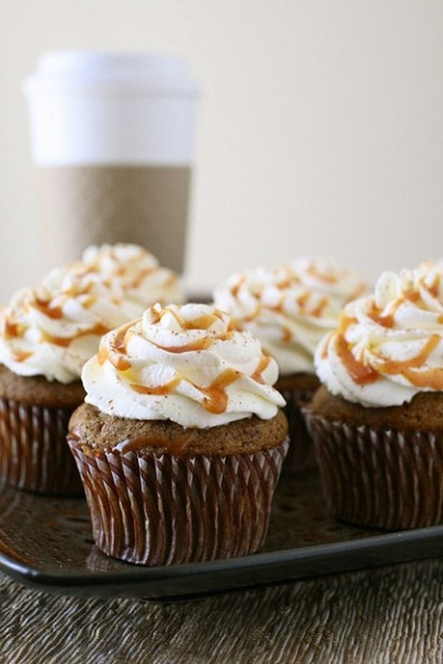 Pumpkin Spice Latte Cupcake Recipe | Food :) | Pinterest