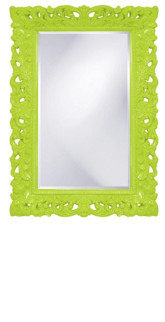 Wall Mirrors Lime Green High Gloss Lacquer Baroque Mirror