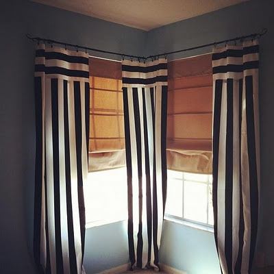 Black and white striped curtains homezz pinterest