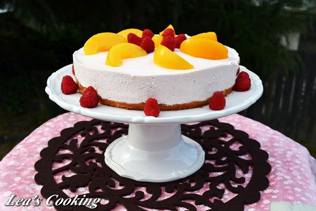 Peach Mousse Cake | Mousses & Puddings | Pinterest