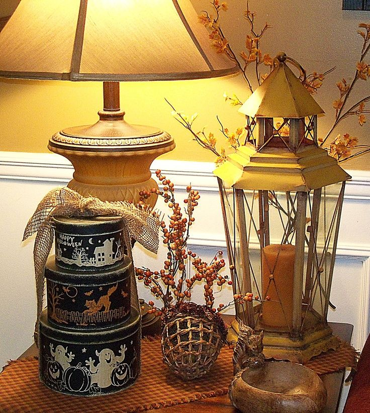 end table decorating for fall fall ideas pinterest