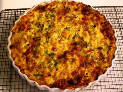 Cauliflower and Ham Crustless Quiche   Recipe