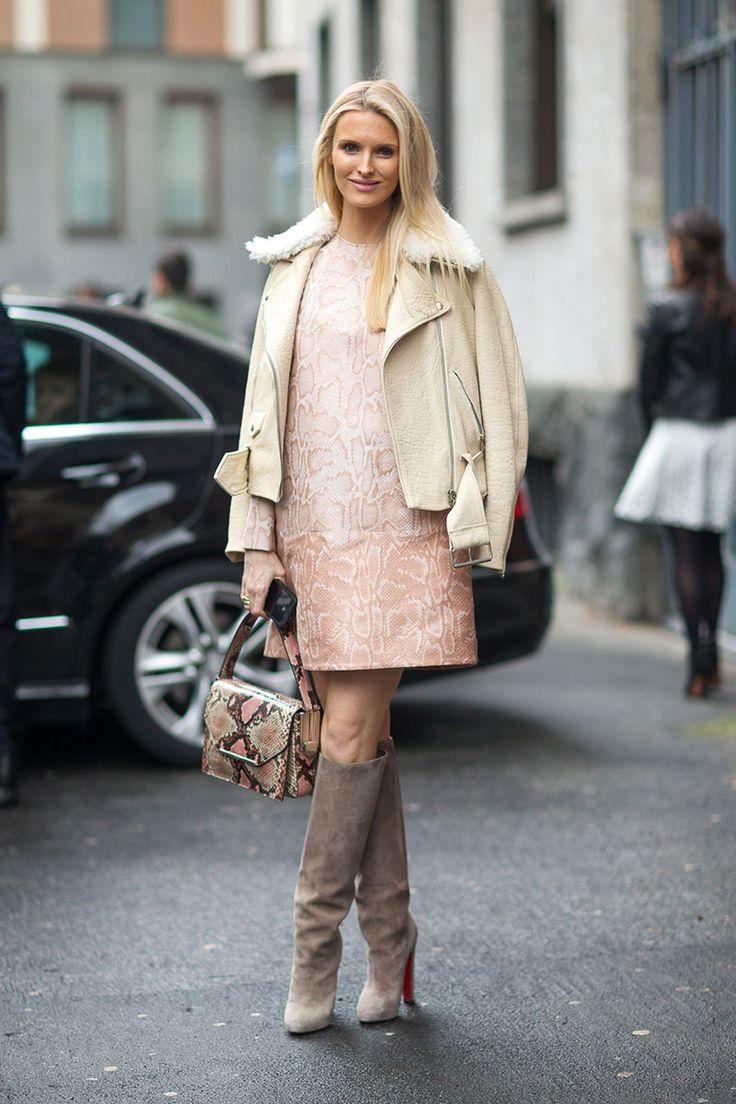 Kate Davidson Hudson in Stella McCartney, Milan Street Style [Photo: Diego Zuko]