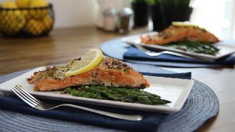 Baked Dijon Salmon Allrecipes.com | I'm a foodie... | Pinterest