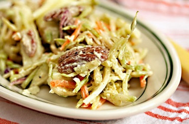 Curried Apple and Pecan Broccoli Slaw — with greek yogurt in place ...