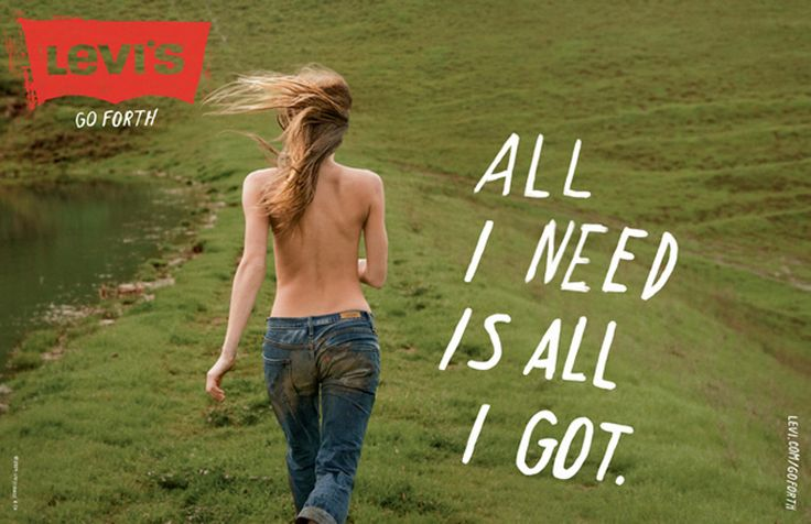 Levi's, 'Go Forth' campaign. Advertising agency: Wieden+Kennedy.