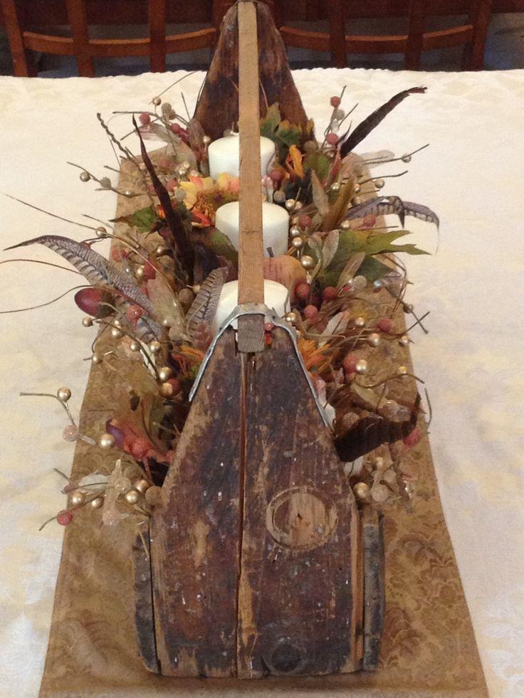 Rustic Wooden Box Autumn Centerpiece Wreaths