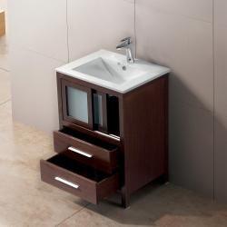 Vigo 24 Inch Alessandro Single Bathroom Vanity With Two Drawers