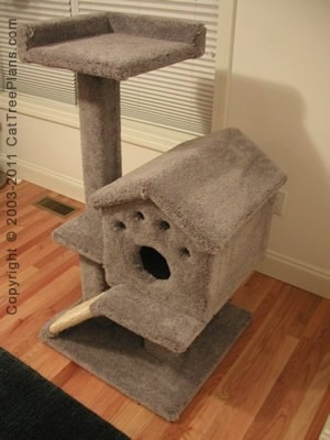 Diy cat furniture grooming dog room pinterest - How to make a simple cat tree ...