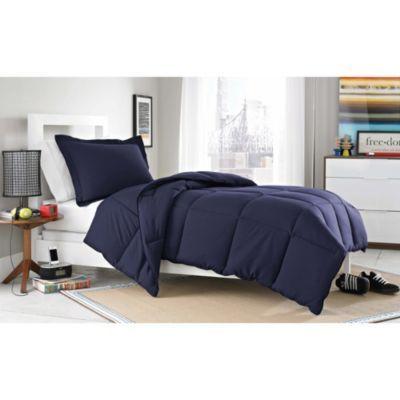 Micro Splendor TwinTwin XL Comforter Set in Navy Blue ...