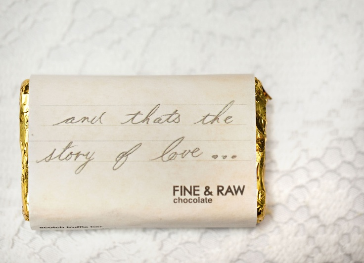 Wrap your chocolate bars with a clever saying ;) Photography by jana-williams.com