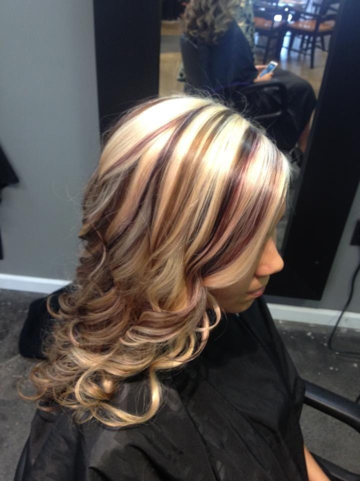 Blonde,brown and plum | hair | Pinterest