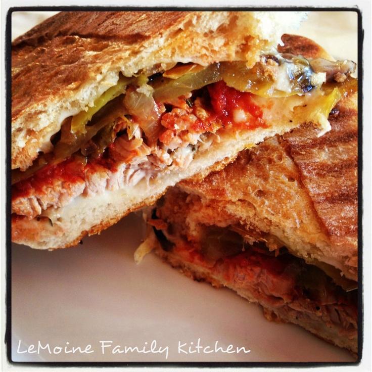 ... Panini With Zucchini, Summer Squash & Basil Recipe — Dishmaps