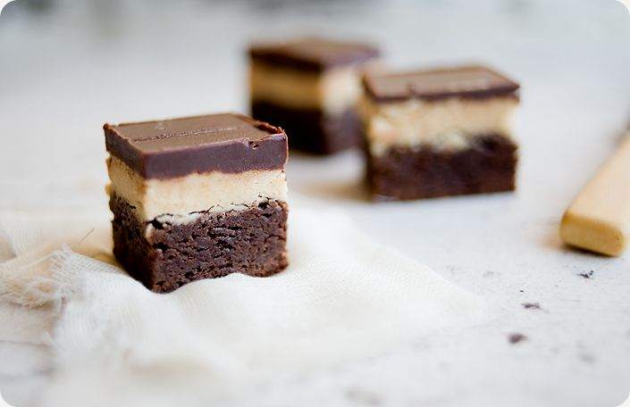 peanut butter truffle brownies. honestly, I'll probly never make these ...
