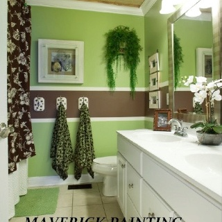 Green And Brown Bathroom Color Ideas