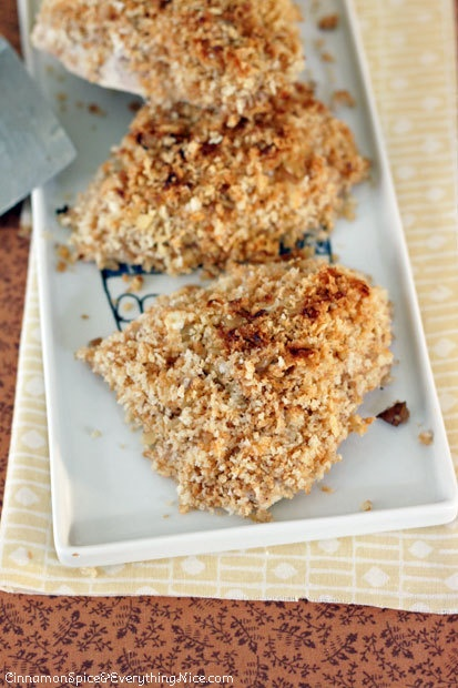 Lemon Honey Goat Cheese Crusted Chicken | Food | Pinterest