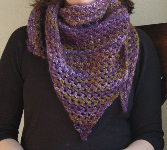 Crochet Triangle : Crochet Triangle Scarf Shawl by RachelsCozyCrochet on Etsy
